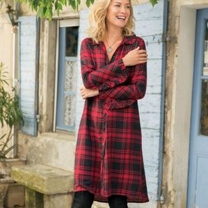 Soft Surroundings Bennington Shirtdress Size L